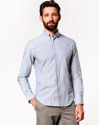 Chemise à rayures fines Goat bleu clair - Bellerose - Modalova