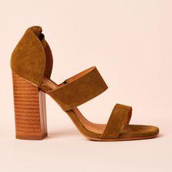 Sandales en Velours de Cuir - Talon 10 cm - Apologie - Modalova