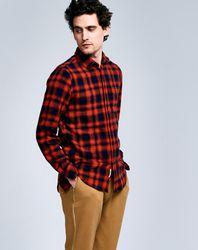 Chemise Neels à carreaux noir/rouge - Bellerose - Modalova