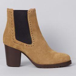 Chelsea Boots en Velours de Cuir Nathalie - Talon 7.5 cm - Apologie - Modalova