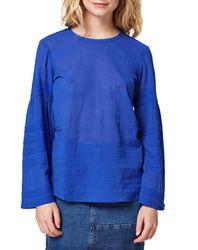 Blouse légère en Coton bleue - Esprit - Modalova
