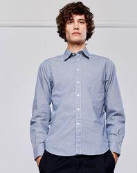 Chemise droite Glenh à pois bleue - Bellerose - Modalova
