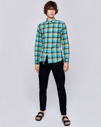 Chemise droite Glenh à carreaux verte - Bellerose - Modalova