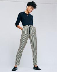 Pantalon Sabana rayé écru/noir - Bellerose - Modalova