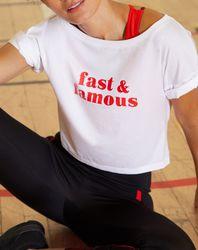 T-Shirt court de sport Lulu à motif - Etam - Modalova