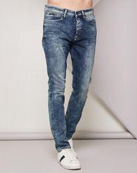Jean Taper Cover stretch bleu - Calvin Klein - Modalova