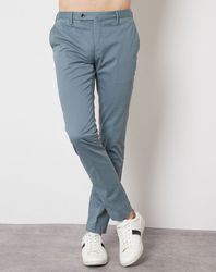 Pantalon Kensington slim chino bleu pétrole - Hackett London - Modalova
