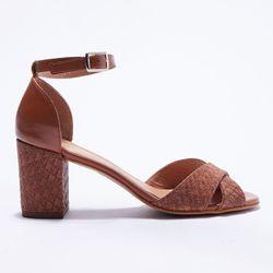 Sandales en Cuir tressé - Talon 7 cm - Apologie - Modalova