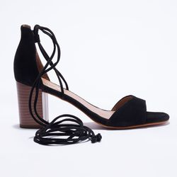 Sandales en Velours de Cuir - Talon 7 cm - Apologie - Modalova