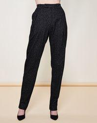 Pantalon façon sarouel imprimé fantaisies contrastantes noir/gris foncé - Giorgio Armani - Modalova