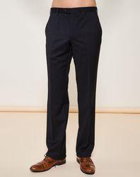 Pantalon coupe droite de costume noir - Giorgio Armani - Modalova