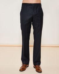 Pantalon coupe droite en cachemire mélangé noir - Giorgio Armani - Modalova