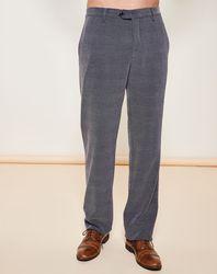 Pantalon coupe droite piqué gris - Giorgio Armani - Modalova