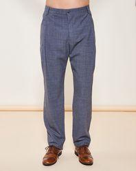 Pantalon habillé coupe droite en Laine mélangée gris - Giorgio Armani - Modalova