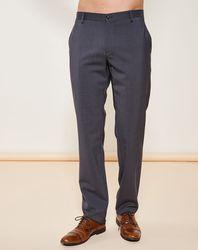 Pantalon coupe droite en Laine mélangée gris - Giorgio Armani - Modalova