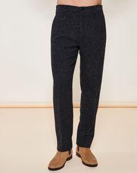 Pantalon coupe slim noir chiné - Giorgio Armani - Modalova