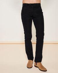 Pantalon coupe slim strié Noir - Giorgio Armani - Modalova