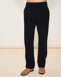 Pantalon Laine mélangée détail relief noir - Giorgio Armani - Modalova