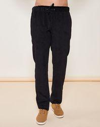Pantalon coupe droite strié noir - Giorgio Armani - Modalova