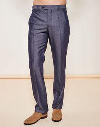 Pantalon habillé en Laine mélangée gris chiné - Giorgio Armani - Modalova