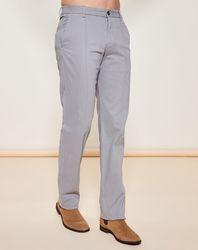 Pantalon coupe droite uni gris - Giorgio Armani - Modalova