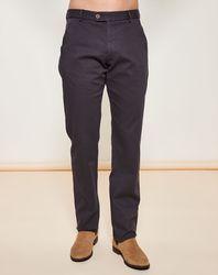 Pantalon coupe droite texturé gris foncé - Giorgio Armani - Modalova