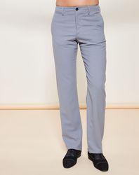 Pantalon coupe droite fluide en Laine mélangée gris - Giorgio Armani - Modalova