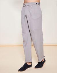 Pantalon style Casual 100% Laine vierge gris clair - Giorgio Armani - Modalova