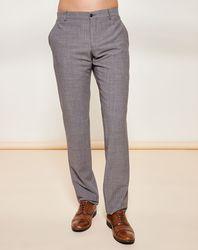 Pantalon texturé en Laine Vierge mélangée gris - Giorgio Armani - Modalova