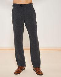 Pantalon coupe évasée chiné noir - Giorgio Armani - Modalova
