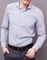 Chemise Slim Fit à motifs gris/blanc - Trussardi - Modalova