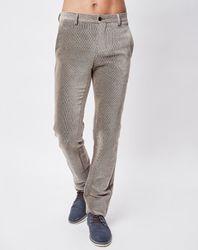 Pantalon en Velours côtelé beige - Giorgio Armani - Modalova