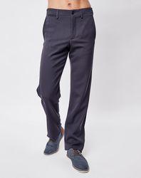 Pantalon droit en Laine mélangée bleu marine - Giorgio Armani - Modalova
