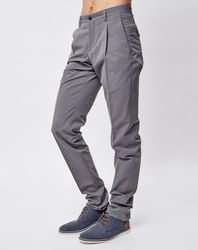 Pantalon à pinces en Coton & Soie gris - Giorgio Armani - Modalova