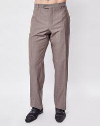 Pantalon 100% Laine vierge coupe droite uni gris - Giorgio Armani - Modalova