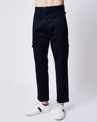 Pantalon Cargo bleu marine - John Galliano - Modalova