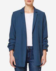 Veste blazer fluide bleue - Esprit - Modalova