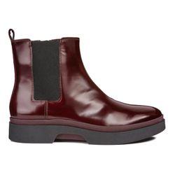Chelsea boots en Cuir bordeaux - Geox - Modalova