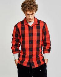 Chemise droite Goney à carreaux rouge/noir - Bellerose - Modalova