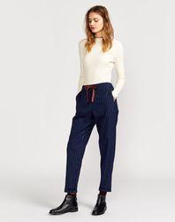 Pantalon Vael rayures bleu marine - Bellerose - Modalova