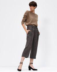 Pantalon en Lin & Laine Verre à rayures taupe - Bellerose - Modalova