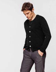 Cardigan boutonné noir - Izac - Modalova