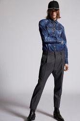 Pantalon Taille 40 98% Laine vierge 2% Élasthanne - Dsquared2 - Modalova