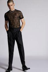 Pantalon Taille 40 65% Laine vierge 35% Soie - Dsquared2 - Modalova