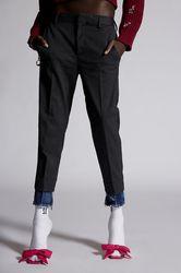 Pantalon Taille 32 50% Polyester 43% Laine 5% Autres Fibres 2% Élasthanne - Dsquared2 - Modalova