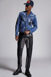 Pantalon Taille 40 95% Laine vierge 5% Élasthanne Polyester Coton Cuir d'agneau - Dsquared2 - Modalova
