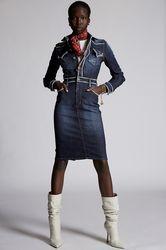 Robe Taille 32 98% Coton 2% Élasthanne Plastique - Dsquared2 - Modalova