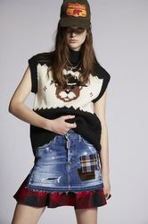 Jupe Taille 32 99% Coton 1% Élasthanne Polyester Laine vierge Acrylique - Dsquared2 - Modalova