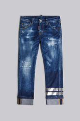 Kids 5 poches Taille 8 98% Coton 2% Élasthanne - Dsquared2 - Modalova