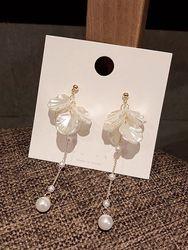 Boucles d'Oreilles Boucles D'Oreilles Ptale de Fleur Pendantes avec Fausse Perle - Dresslily FR - Modalova